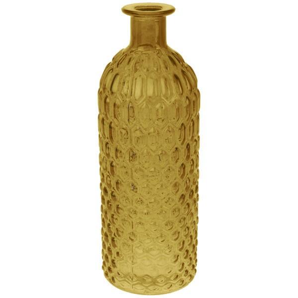 Deko Glasflasche Goldgelb