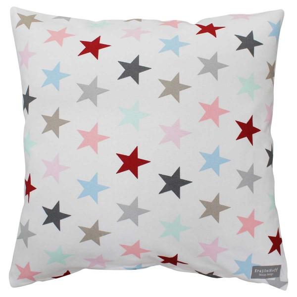 Krasilnikoff Kissehülle Sterne multicolor