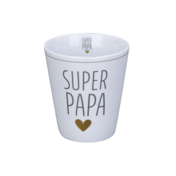 Tasse Becher Krasilnikoff Happy Cup Super Papa Porzellan Geschirr
