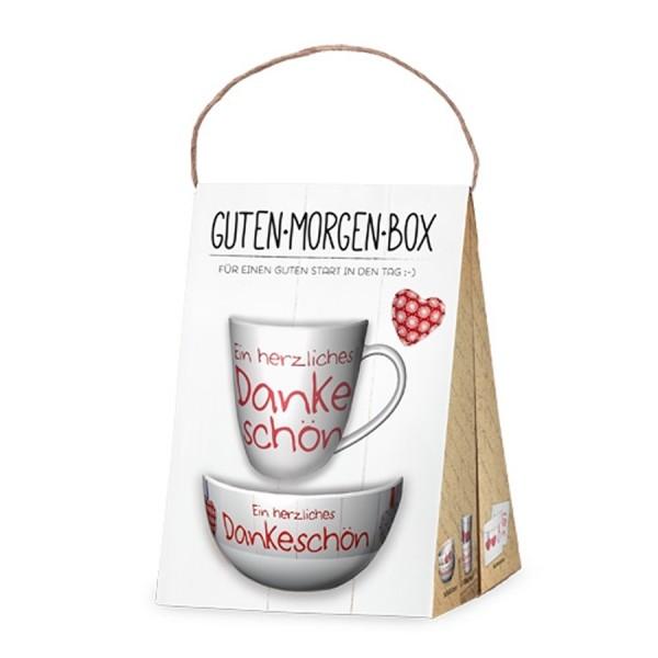 Geschenk für Dich :-) Guten Morgen Box Ein herzliches Dankeschön