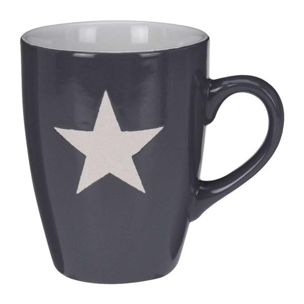 Becher Stern groß grau