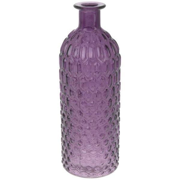Deko Glasflasche Lila