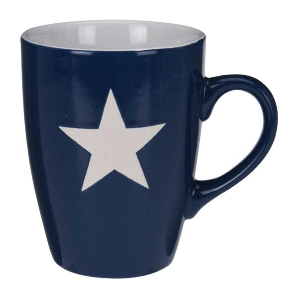 Becher Stern groß blau