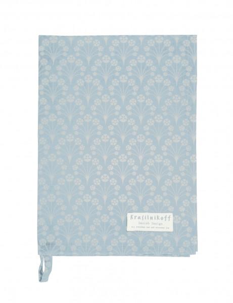 Küchentextilien Krasilnikoff Geschirrtuch Bouquet Dusty Blue Baumwolle