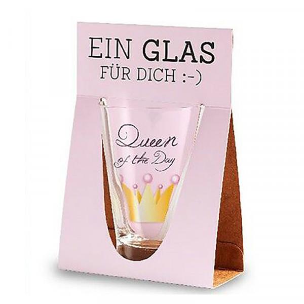 Queen of the Day Trinkglas la vida, Geschenk für Dich ;-)