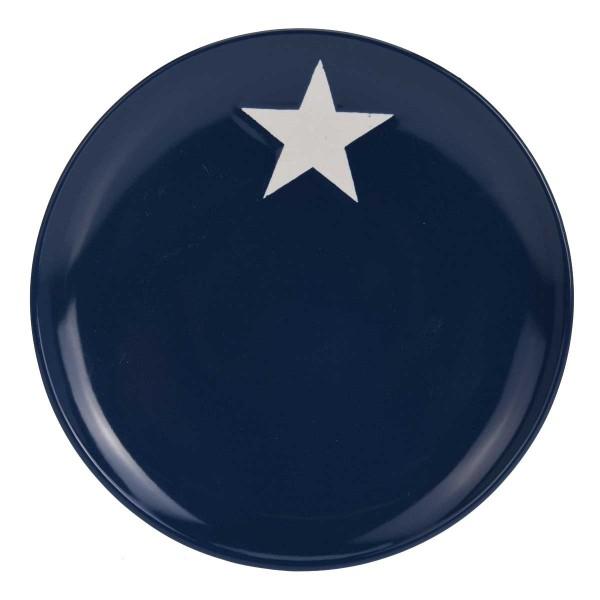 Teller mit Stern blau