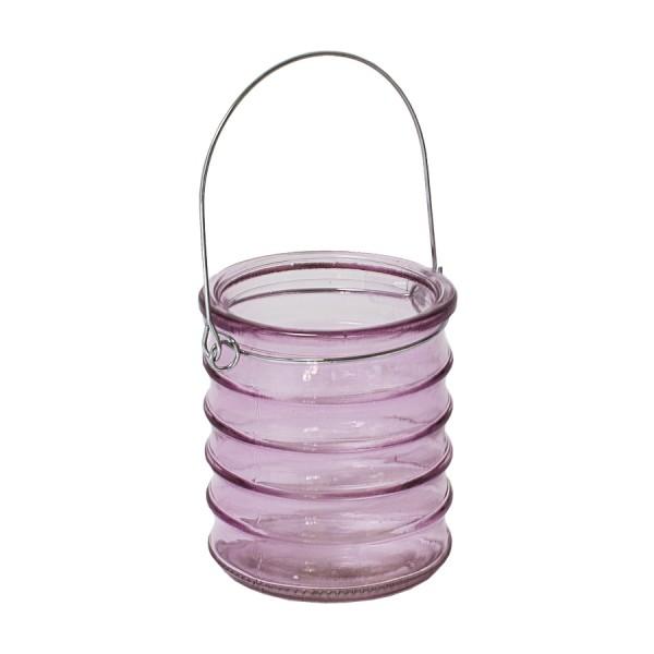 BOLTZE Dekoglas mit Henkel rosa