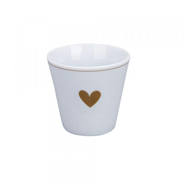 Espresso Becher Tasse Krasilnikoff Herz Heart of Gold