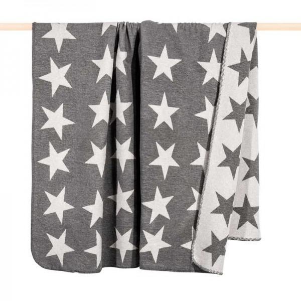 Decke Stars.Pad Decke Stars Sterne Grau 150x200 Cm Decken Wohnen