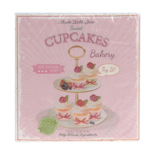 Servietten Cupcakes Bakery rosa
