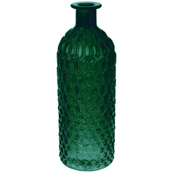 Deko Glasflasche Grün