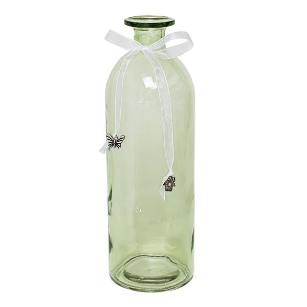 BOLTZE Dekoflasche aus Glas hellgrün