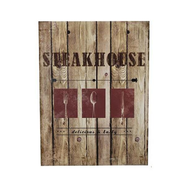 Holzschild Steakhouse