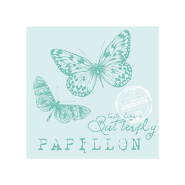 Ambiente Servietten Papillon Aqua