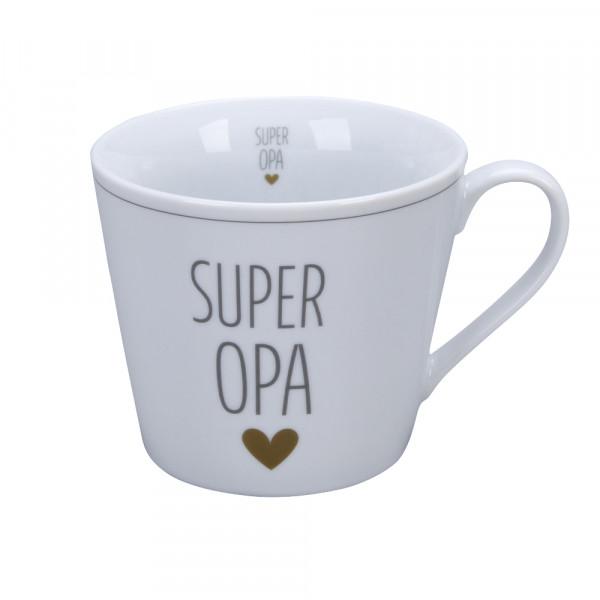 Krasilnikoff Happy Cup Super Opa Herz Tasse Becher