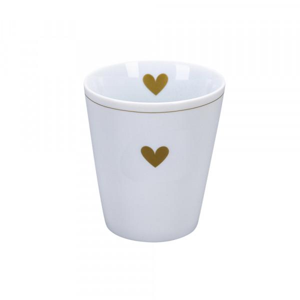 Krasilnikoff Happy Mug Becher Heart of Gold