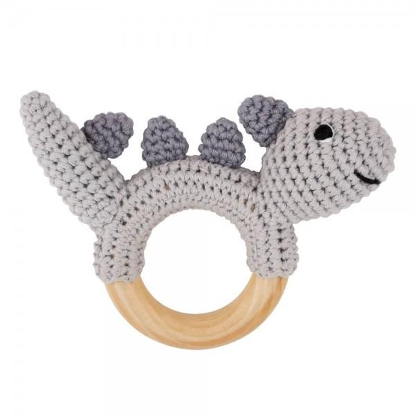 Sindibaba Rassel Dino grau Handmade