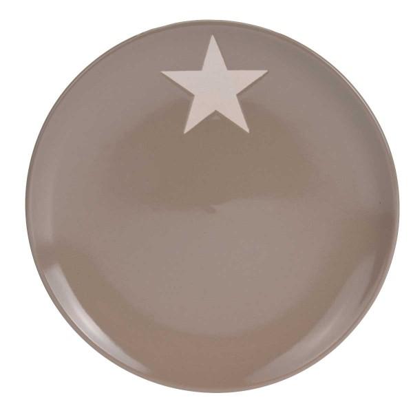 Teller mit Stern beige