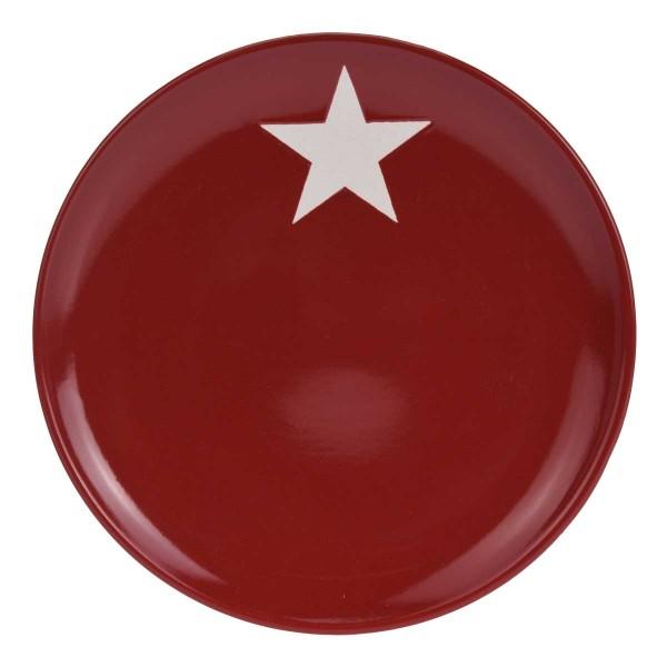 Teller mit Stern rot