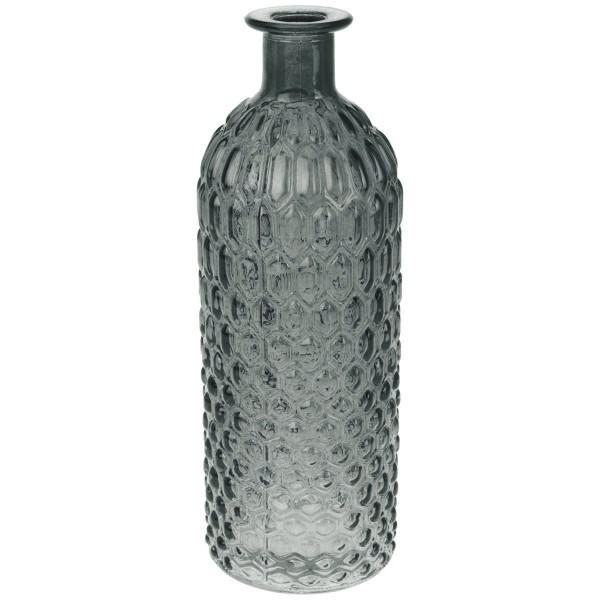 Deko Glasflasche Grau