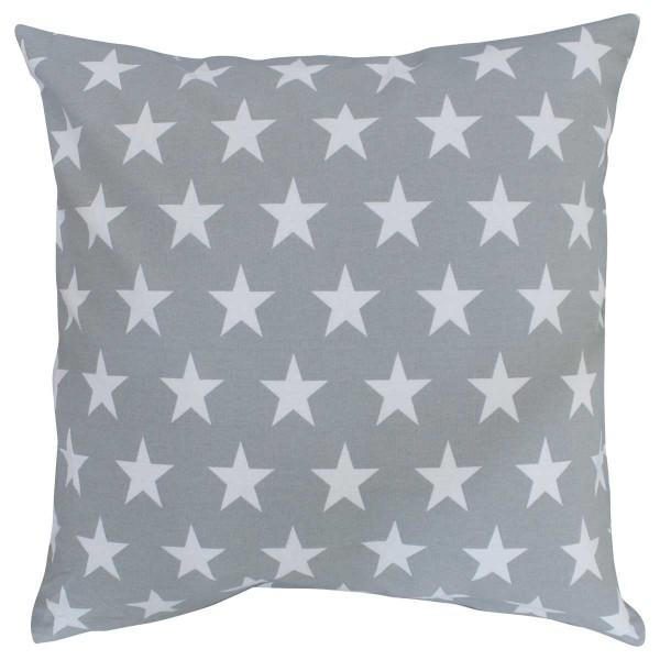 Krasilnikoff Kissenhülle Sterne grau