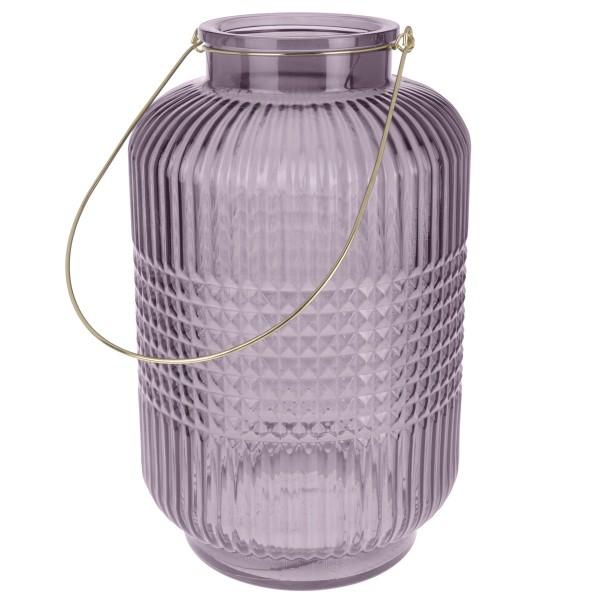 Windlicht Glas flieder
