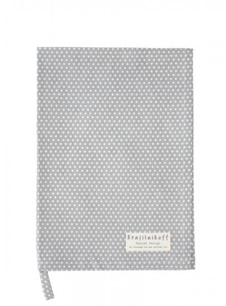 Krasilnikoff Geschirrtuch Micro Dots Grey