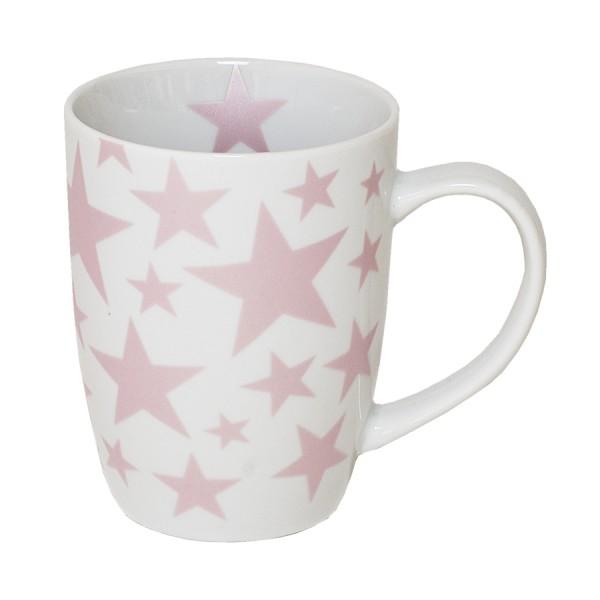 BOLTZE Becher mit kleinen Sternen rosa