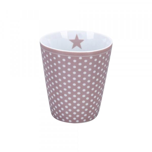 Happy Mug Micro Dots Dusty Pink Becher Tasse Krasilnikoff Kaffeetasse